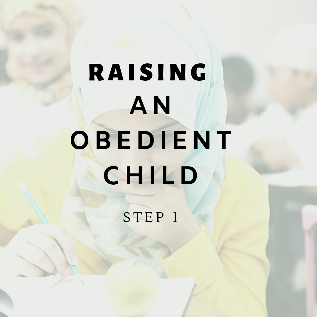 Raising an Obedient Child – Step 1